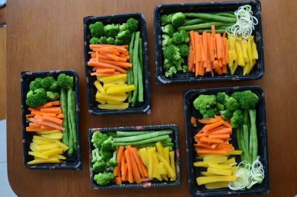 como preparar legumes para a semana - cozinhar em lote