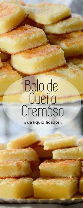 Receita fácil de bolo de queijo de liquidificador