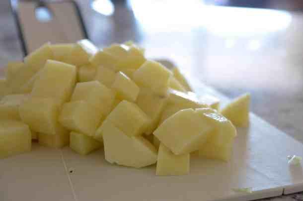 receita de sopa de batatas para o inverno - sopa cremosa de batatas e outros vegetais - ingredientes