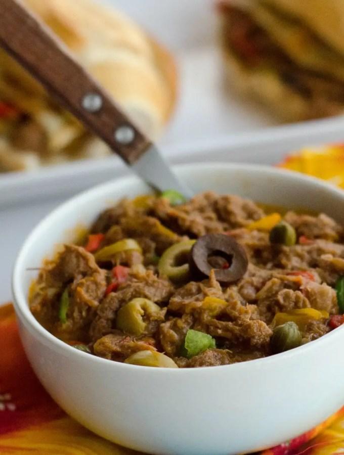 Carne louca (carne desfiada para sanduiche)