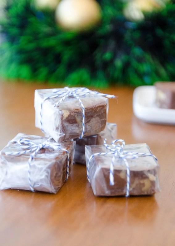 receita de fudge de chocolate e nozes fácil