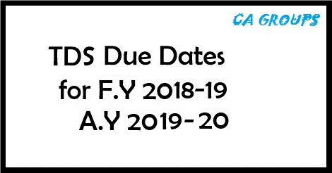 TDS RATES CHART FOR FY 2018-19 AY 2019-20