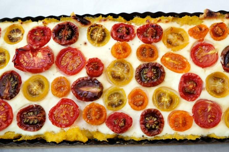 Tomatentarte Polenta