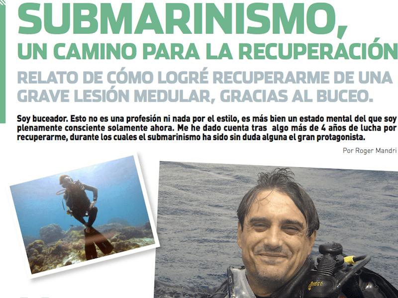 Submarinismo, un camino para la recuperación