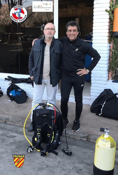 ACBEA recibe a FECDAS en Oceanos Diving Center Lloret de Mar