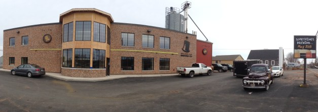 Panorama of the Kensington Rd side of the brewery