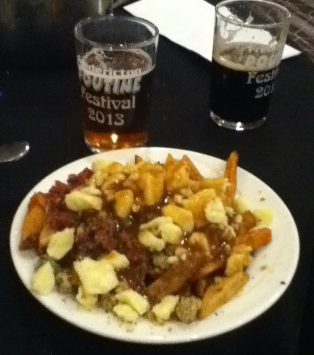 "Kings Arrow Arena ""Double Double"" Poutine - both Montreal smoked meat and turkey dressing"