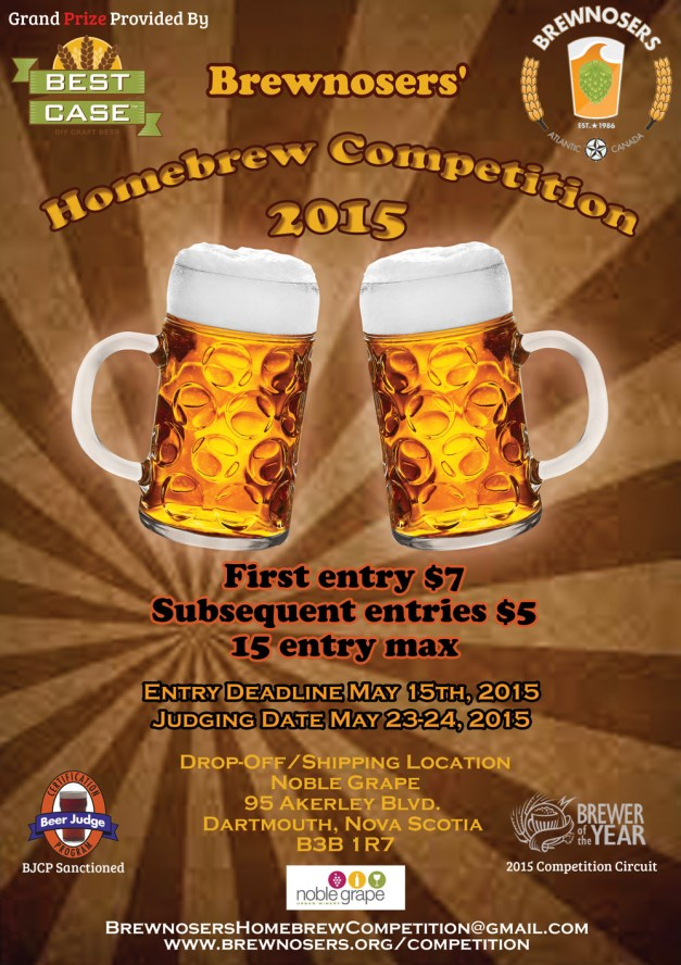 Brewnosers' Homebrew Competition Poster