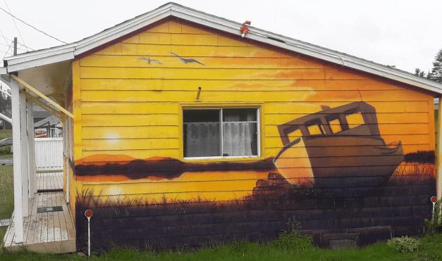 brewery side mural