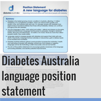 DIABETES AUSTRALIA POSITION STATEMENT