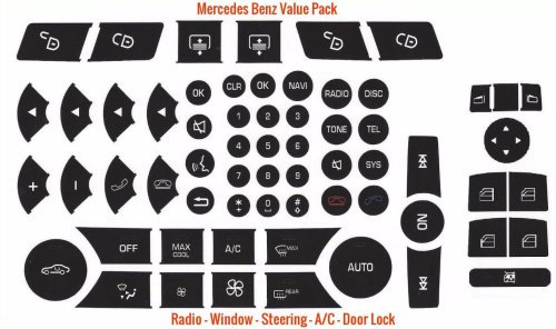 small resolution of matte black mercedes benz steering wheel button vinyl repair decals