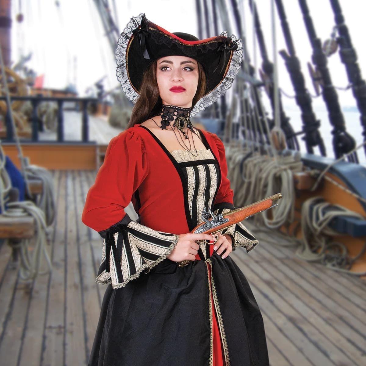 Ladies Anne Bonny Renaissance Pirate Gown - Museum Replicas