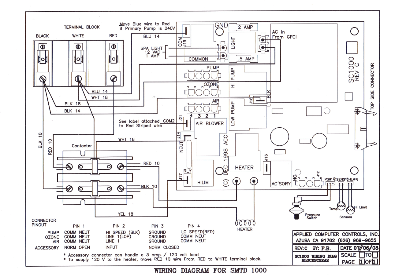 Wiring Diagrams – ACC Spas