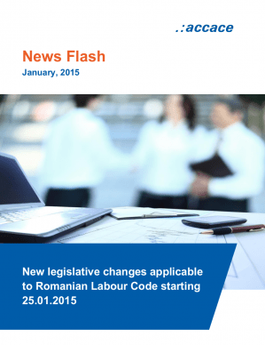 New legislative changes applicable to Romanian Labour Code starting 25.01.2015