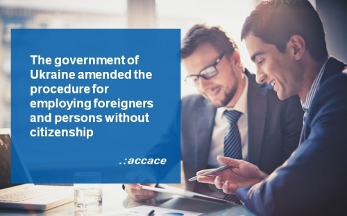 Amended procedure for providing work permits to foreigners and stateless citizens in Ukraine