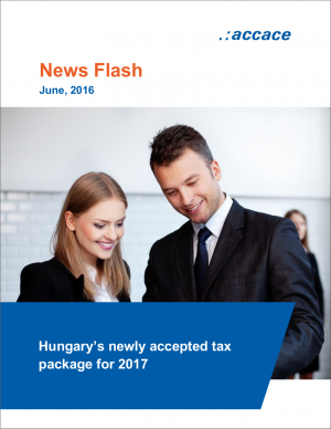 Hungary's newly accepted tax package for 2017 | News Flash