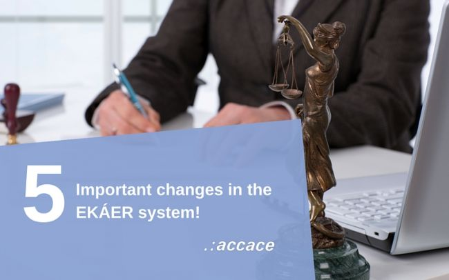 5 important changes in the EKÁER (Hungarian Electronic Public Road Trade Control System) from August 2016