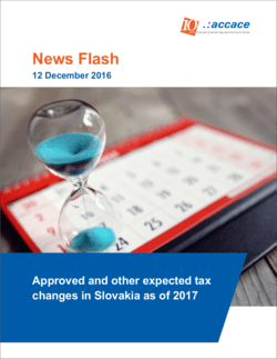 Approved and other expected tax changes in Slovakia as of 2017 | News Flash