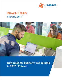 New rules for quarterly VAT returns in 2017 - Poland