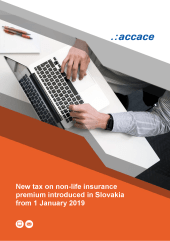 New tax on non-life insurance premium introduced in Slovakia from 1 January 2019 Accace eBook