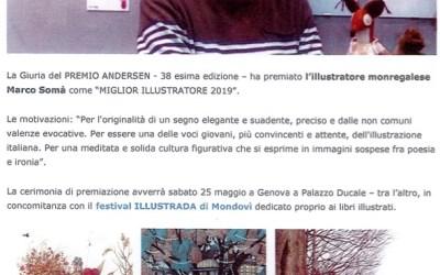 A Marco Somà il premio Andersen 2019 come miglior illustratore