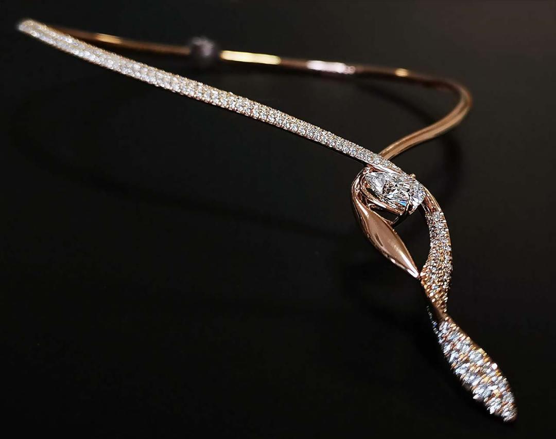 Afrodite - design di gioiello realizzato dagli studenti ABA Cuneo - dettaglio