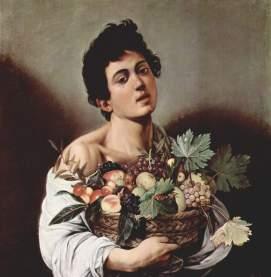 Fanciullo con canestro di frutta 1593-1594, olio su tela 70 × 67 cm, Galleria Borghese - Roma.