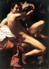 San Giovanni Battista 1602, olio su tela 129 × 94 cm, Galleria Doria Pamphilj (Tela analoga per composizione e dimensione a quella della Pinacoteca Capitolina sempre del 1602).