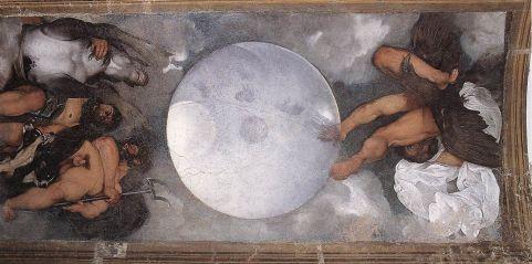 Giove, Nettuno e Plutone 1597circa, olio su muro 300 × 180 cm, Villa Ludovisi.