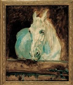 "Henri Tolouse Lautrec - Il cavallo bianco ""Gazelle"", 1881"