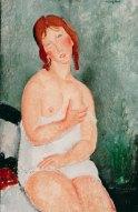 Amedeo Modigliani, Junge Frau im Hemd - 1918