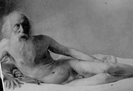 Vincenzo Gemito ritratto nudo da Vincenzo Lembo, 1928.