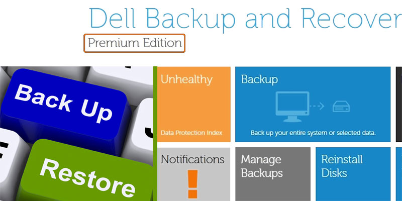 Dell backup and recovery premium tool