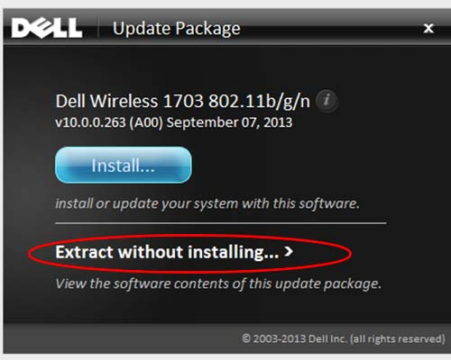 Extract Dell drivers from uodate pakcage