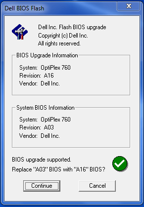 Update BIOS using windows executable file