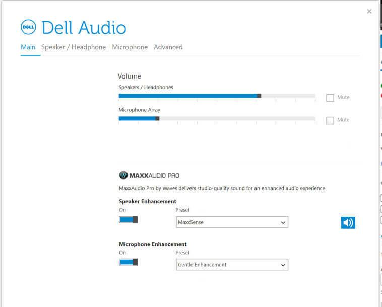 Dell audio enhancements