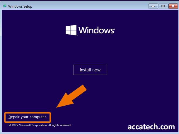 Repair windows operating system