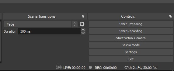 Start screen recording in OBS