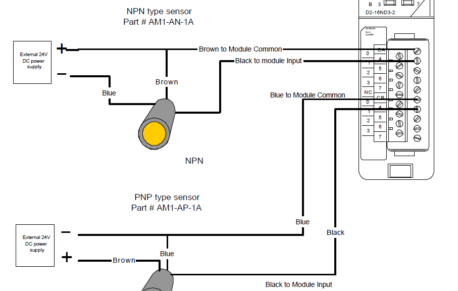 2 way switching wiring diagram 7 pin trailer plug nz here's a quick to wire npn and pnp devices | acc automation