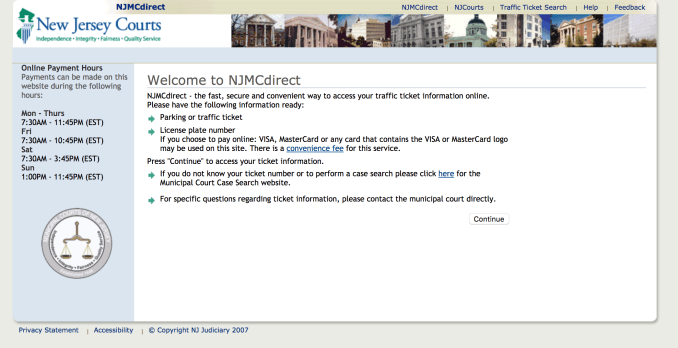 NJMCdirect homepage