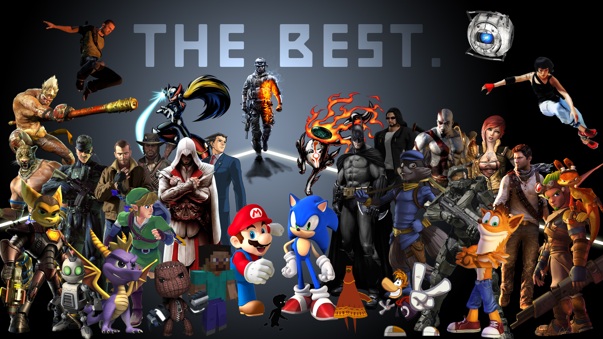 Latest Amazing Video Game Character Collage Youtube Hd Wallpaper Cool 1