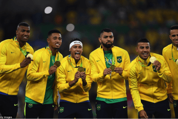 brazil football team wins olympic gold