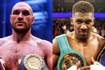 Tyson Fury and anthony joshua