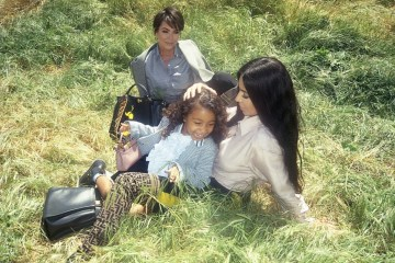 kris jenner and kim kardashian and north west