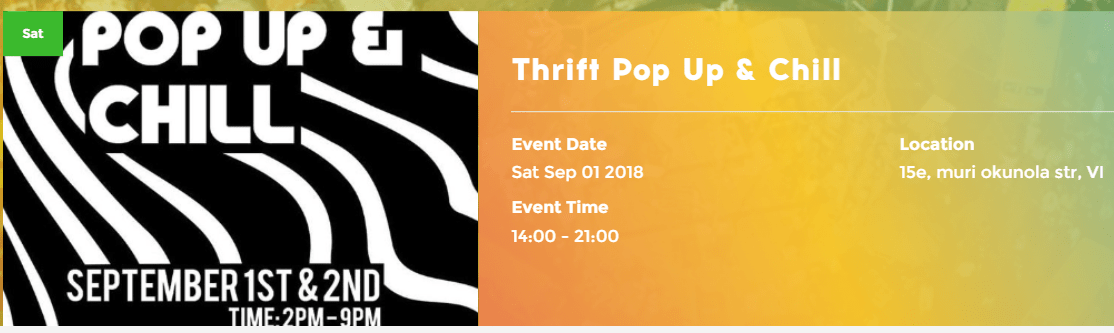 thrift po up and chill