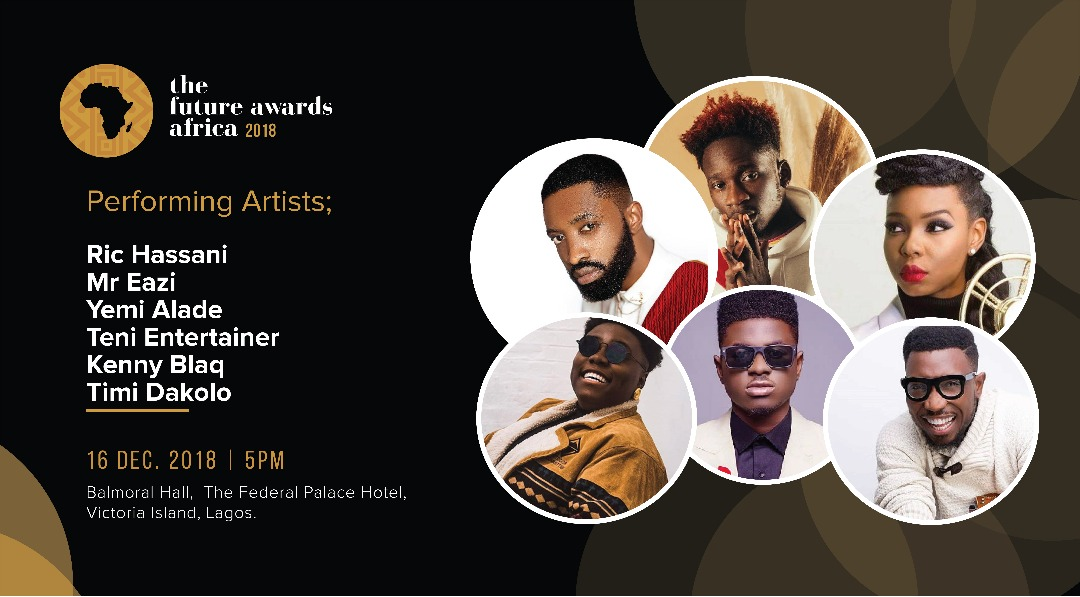 Artistes at The Future Awards Africa 2018