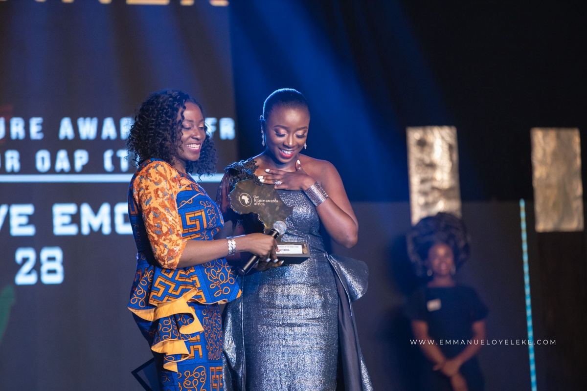 Olive Emodi; Winner of Prize For On Air Personality