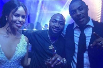 sabrina dowhre, davido and idris elba
