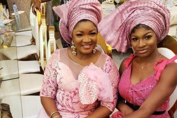 Omotola Jekeinde and daughter