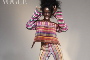 adut akech in kenneth eze fashion